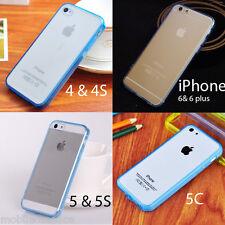 Silicona Gel Tpu Bumper Funda Transparente Posterior Para Iphone 6 6 Plus 5s 5 5c 4 4s
