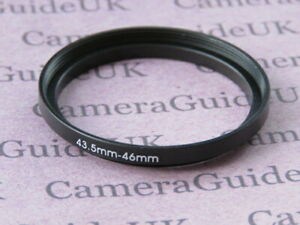 43.5mm to 46mm Male-Female Stepping Step Up Filter Ring Adapter 43.5mm-46mm