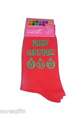 Red Christmas Socks Merry Christmas Mum in Green Ladies Gift for your Mother