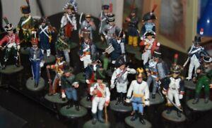24 figurines soldats Empire Napoléon Europe. Del Prado Collection. Métal peint