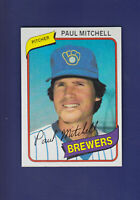Paul Mitchell 1980 TOPPS Baseball #131 (MINT) Milwaukee Brewers