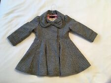 M&S Girls 18-24mths Wool Blend Coat Excellent Condition