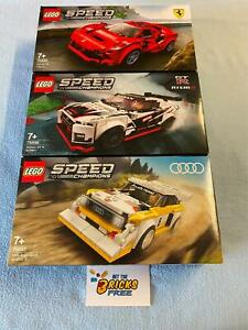 Lego Speed Champions Set of 3 76895/76896/76897 New/Sealed/Hard to Find