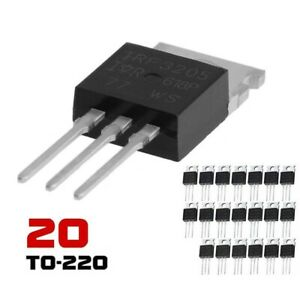 New 20x IRF3205 IR MOSFET N-CHANNEL 55V/110A TO-220 HEXFET Power Transistor IRF