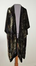 Cocoon House Silk / Rayon Blend Voided Velvet Caftan Type Jacket / Wrap One Size