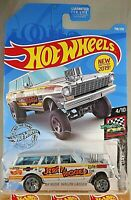 2019 Hot Wheels #198 HW Race Day '64 NOVA WAGON GASSER Jerry Rigged Gray Variant