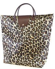 damen leopard faltbar klappbar shopper shopper einkaufstasche for life