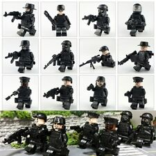 12PCS Police SWAT Army with Weapons Guns etc Mini Figures fit lego UK SELLER