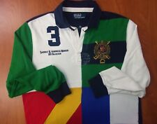 Polo Ralph Lauren Saddle & Harness Maker Custom Fit Cotton Rugby Ls Polo Shirt M
