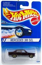 Hot Wheels Mercedes 380 SEL Red With Gold 7SP's International Blue Card 1996