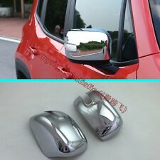 ABS Chrome Side Mirror Cover Trim For JEEP Renegade 2015 2016 2017