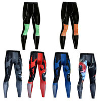 Men's Workout Compression Pants Gym Fitness Workout Spandex Leggings Wicking