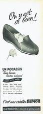 Publicité Advertising 097  1957   Ets Hirigoyen chaussures mocassin Hirica