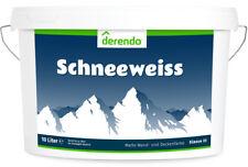 Derendo Innenfarbe, 10l, weiß, matt -  Wandfarbe Deckenfarbe- nur 2,2€/Liter