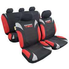 Racing Red Black Car Seat Covers Interior Accessories Carseat Front & Rear