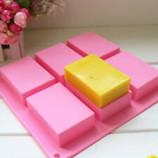 6-cavity Rectangle Silicone Ice Cube Candy Cake Candle Soap Making Mold Mould