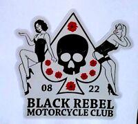 """BLACK REBEL MOTORCYCLE CLUB"" VINYL DECAL STICKER CAFE RACER HOG TRIUMPH BSA !!"