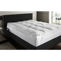 Luxury Duck Feather & Down MATTRESS TOPPER Enhancer Deep All Sizes Available