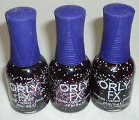 3 ORLY FX Nail Lacquer Nail Polish Color  BLACK HOLE 20818