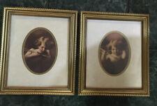 Cupid Awake & Cupid Asleep Framed Sepia Prints