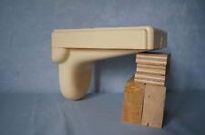 Vintage Fulton hard plastic phone shelf wall mount drawer bracket cream