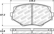 StopTech Disc Brake Pad Set Front Centric for 1994-2002 Mazda Miata # 308.06350
