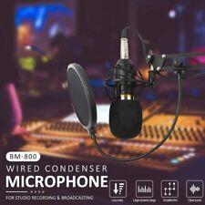 BM800 Kondensator Mikrofon set Studio Aufnahme Kit+USB Audio Adapter grau