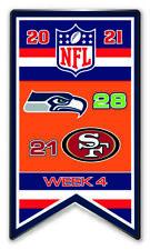 2021 Semaine 4 Bannière Broche Seattle Seahawks Vs. S. F. San Francisco 49ers