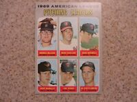 TOPPS 1969 AMERICAN LEAGUE PITCHING LEADERS McCLAIN, CUELLAR, ETC  CARD #70