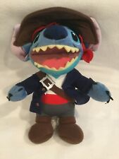 "Disney Parks Lilo & Stitch Pirates of Caribbean Stitch Plush Stuffed Doll  9"""
