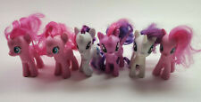 My Little Pony Pink Purple White Lot of 6 Ponys Preowned
