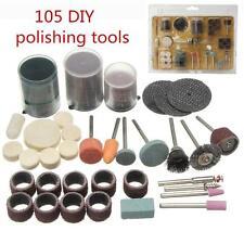 105Pcs US Stock Rotary Drill Hobby Tool Accessory Aanding Kit Fits Multi Tools