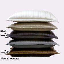 $225 NWT Ann Gish 100% Silk Channel Charmeuse 20x14 Decorative Pillow Sham Black