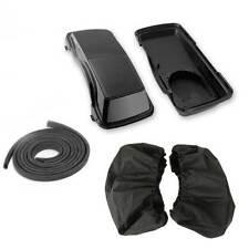"Vivid Black Saddle bag 6X9"" Speaker Lid W/Cover For HARLEY 94-13 Touring FLH FLT"