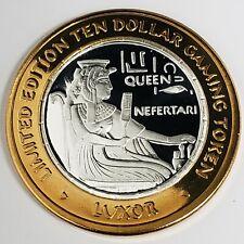 New Listing2001 G Luxor Casino .999 Silver Strike $10 Queen Nefertari Sitting Token ;Lx0123
