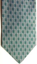 "Giorgio Armani Men's Rayon/Silk Tie 56"" X 4"" Multiple Greens Geometric"