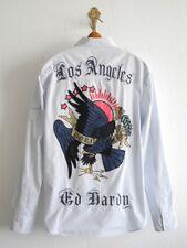 ED HARDY HEMD L LOS ANGELES BORN FREE TATOO BLAU ADLER BESTICKT VINTAGE