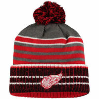 Detroit Red Wings Cuffed Pom Knit Beanie Cap Hat - NHL licensed -NWT *free ship*
