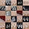925 Sterling Silver Ear Stud Hoop Dangle Earrings Wedding Bridal Fashion Jewelry