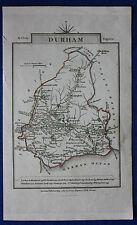 Original antique miniature map ENGLAND, DURHAM, DARLINGTON, John Cary 1812