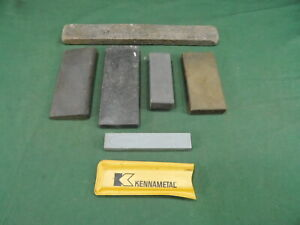 Vintage Assortment of Nice Sharpening Stones @ 6 Collectible User Antique Tool