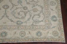 Antique All-Over Floral SAGE GREEN Large Area Rug Hand-Knotted Living Room 10x14