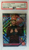 2018-19 Panini Prizm Fast Break Luck of the Lottery Trae Young #5, Graded PSA 10
