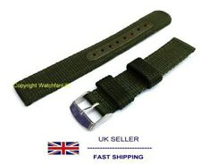 Nylon Fabric Green Military Army Watch Strap - 18MM LUG - Fits Seiko SNK805