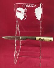 Superbe Présentoir plexi pour 6 couteaux Corses réf.C6C