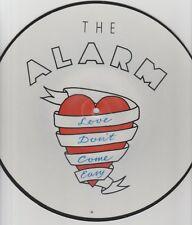"Alarm-Love Don't Come Easy UK 10"" vinyl picture disc."