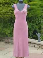 Monsoon Pink Beaded Dress Size 08 Wedding PROM XMAS Party Cruise Races