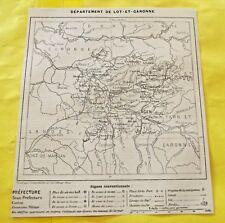 1898 Département du Lot et Garonne 47 Agen carte de la France Nerac