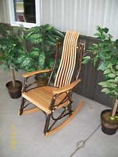 *HICKORY & OAK* Rustic Rocker- Natural Stain- Amish Made USA