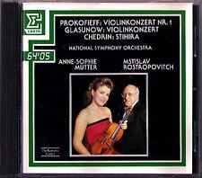 Anne-Sophie MUTTER: PROKOFIEV GLAZUNOV Violin Concerto SCHEDRIN ROSTROPOVICH CD